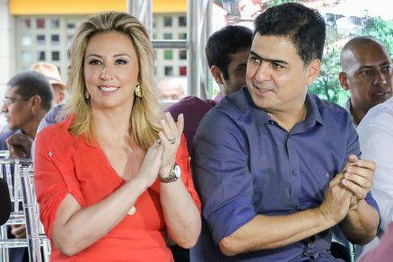 A primeira-dama Marcia Pinheiro e o prefeito Emanuel Pinheiro: