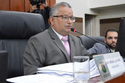 O presidente da Câmara Municipal de Cuiabá, vereador Misael Galvão (Crédito: Reprodução)