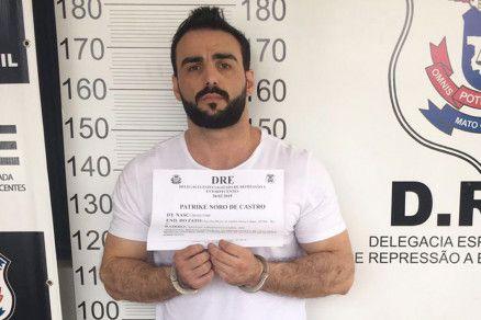 Patrick foi preso em flagrante por tráfico de drogas no dia 28 de fevereiro (Crédito: Reprodução/ PJC)