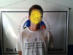 dolescente detido (Crédito: Canarana News)