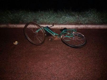 A vítima morreu no local do acidente, o motorista fugiu sem prestar socorro. (Crédito: Agência da Notícia)
