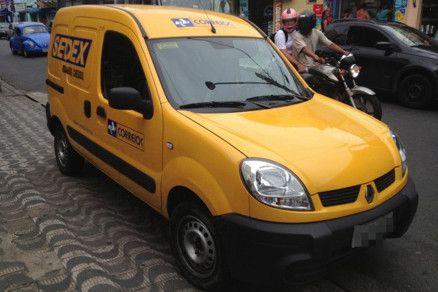 Veículo usado pelos Correios para entrega de encomendas e correspondências (Crédito: Reprodução)