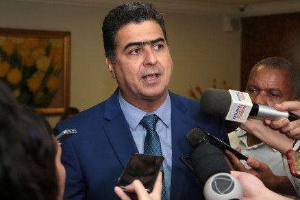 O prefeito Emanuel Pinheiro, que enalteceu o perfil técnico do ex-secretário (Crédito: Alair Ribeiro/MidiaNews)