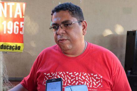 O presidente do Sintep, Valdeir Perereira (Crédito: Alair Ribeiro/MidiaNews)