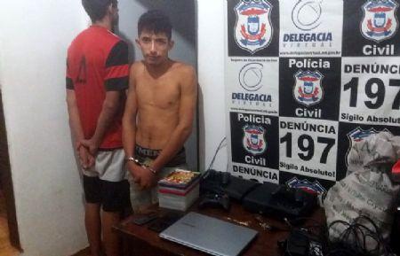 O menor M.V.L.L., 17, Felipe Batista Pereira, 20, foram identificados como autores do latrocínio (Crédito: Agência da Notícia/Reprodução)