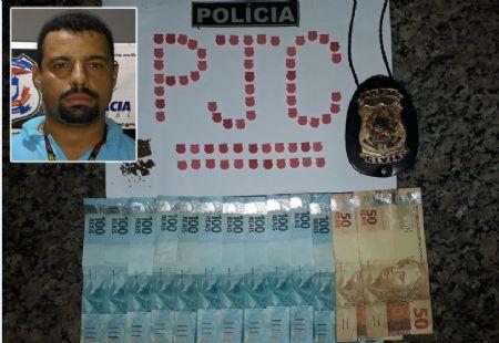 Diogão estava em posse de 60 comprimidos de ecstasy (Crédito: Agência da Notícia)