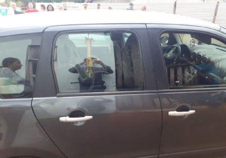 Bebê ficou trancado dentro de carro em Chapada dos Guimarães (Crédito: Reprodução)