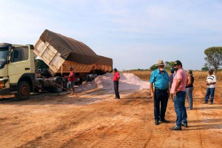 O calcário vai beneficiar assentados do município de São Felix do Araguaia (Crédito: Agência da Notícia com Reprodução)