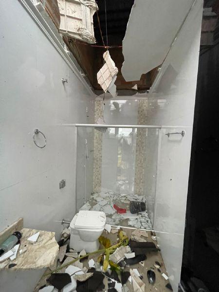 Prefeitura ainda está contabilizando os prejuízos em Porto Alegre do Norte (Crédito: Agência da Notícia com Reprodução)