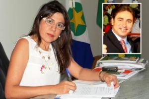 A vice-prefeita Antonia Eliene Liberato Dias e o ex-prefeito Túlio Fontes (no destaque) (Crédito: Reprodução)