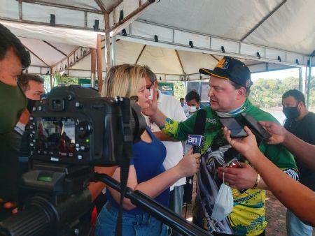 Max Russi durante entrevista ao Agência da Notícia (Crédito: AGÊNCIA DA NOTICIA)