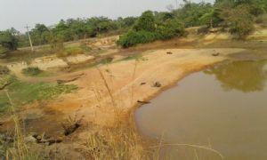 rio que abastece a cidade de Confresa está praticamente seco (Crédito: Foto: Agencia da noticia)