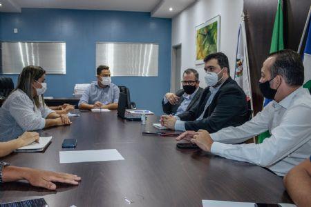 Reunião aconteceu nesta terça-feira no Gabinete do Prefeito