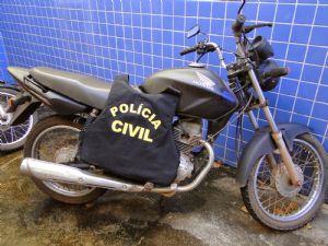 A motocicleta estava em posse de um Indígena (Crédito: Agência da Notícia)