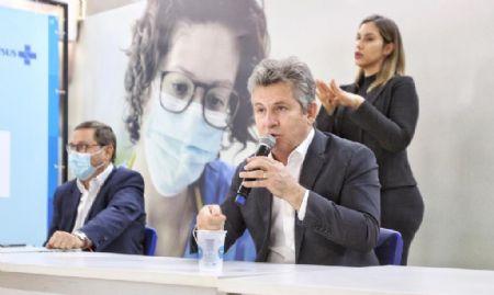 Live do governador e o secretário de Saúde sobre o Centro de Triagem Covid-19 (Crédito: Christiano Antonucci - SECOM/MT)