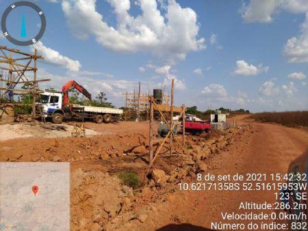 Obra conduzida pelo Governo de Mato Grosso. (Crédito: Reprodução)