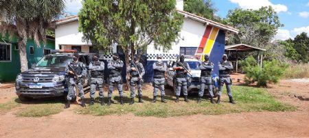 No município de Santa Cruz do Xingu a equipe logrou exito em apreender uma arma de fogo (Crédito: Agência da Notícia)