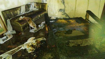 Pertences do casal foram totalmente destruídos pelo fogo (Crédito: CBM-MT)