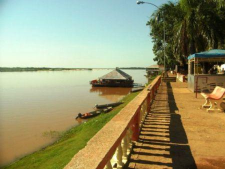 Caes de São Felix do Araguaia vazio, embora muitos turistas estão na cidade praticando a Pesca Esportiva (Crédito: Agência da Notícia)