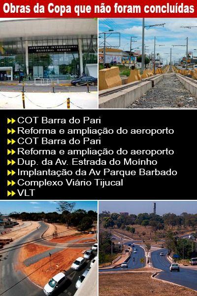 Quadro mostra a lista das obras previstas para a Copa de 2014 na região (Crédito: Rodinei Crescêncio/Arte/Rdnews)