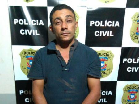 """Cleberson de Souza Cardoso mais conhecido como """"Cebolão"""" (Crédito: Polícia Civil/Confresa)"""
