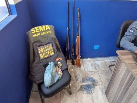 Material apreendido durante a operação em Novo Santo Antônio (Crédito: Agência da Notícia com Reprodução)