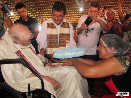 Dom Pedro  em uma das últimas comemorações de aniversário (Crédito: Agência da Noticia)