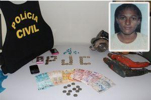 A mulher foi presa por tráfico de drogas (Crédito: interativa FM)