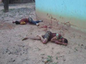 Os dois irmãos morreram com golpes de faca e pauladas (Crédito: Agência da Notícia)