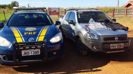PRF localizou o Fiat Strada de Paraúna/GO em Nova Xavantina/MT