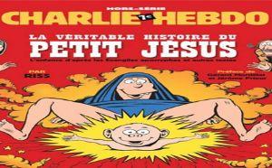 Charge do jornal Charlie Hebdo satirizando a virgem Maria (Crédito: Reprodução)